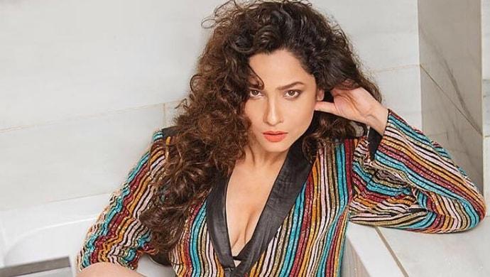 pavitra rishta's ankita lokhande in a multi-coloured jacket for a photoshoot