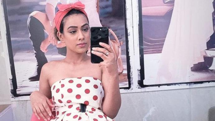 Nia-Sharma-Polka-Dot-Fashion