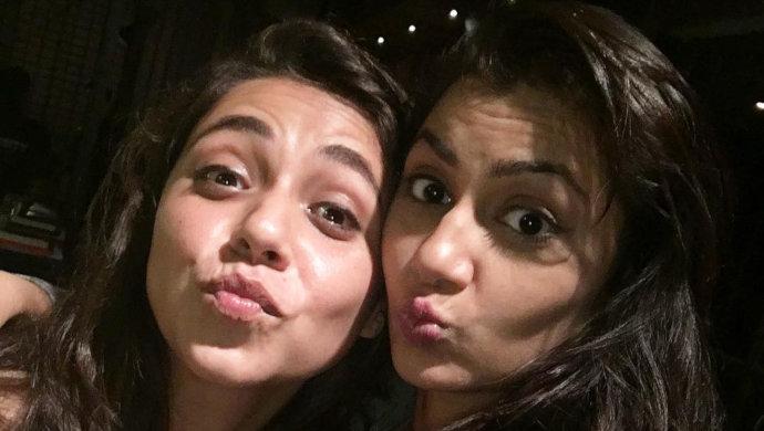 Tamashree actress Maanvi Gagroo with Kumkum Bhagya actress Sriti Jha