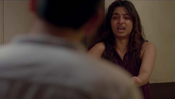 Radhika Apte And Ankur Vikal In A Scene From Phobia