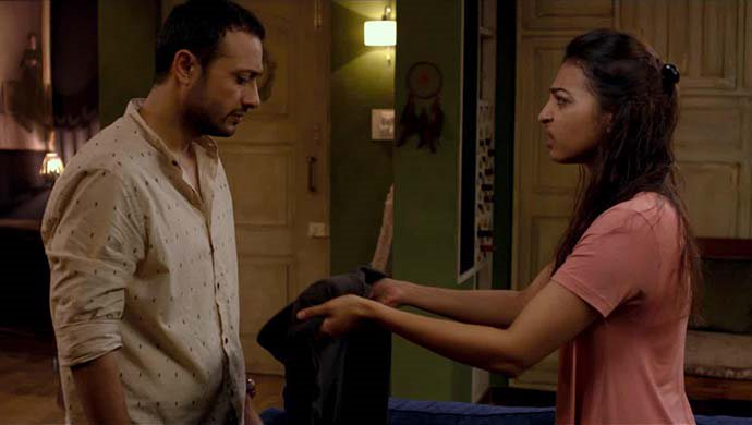 Radhika Apte And Satyadeep Mishra In A Scene From Phobia