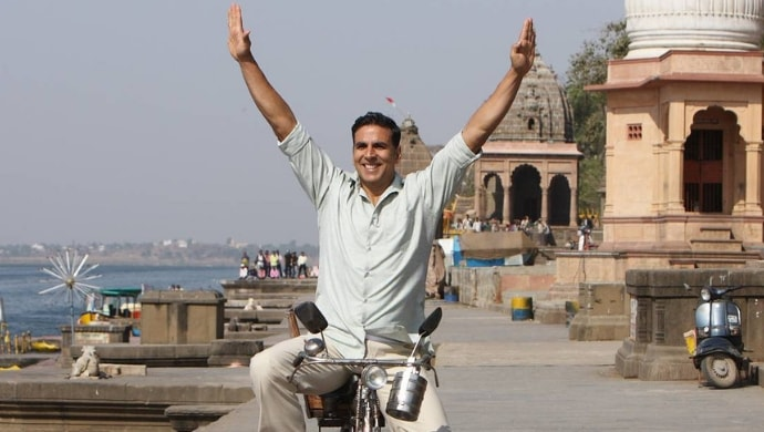 A still featuring Akshay Kumar from Pad Man