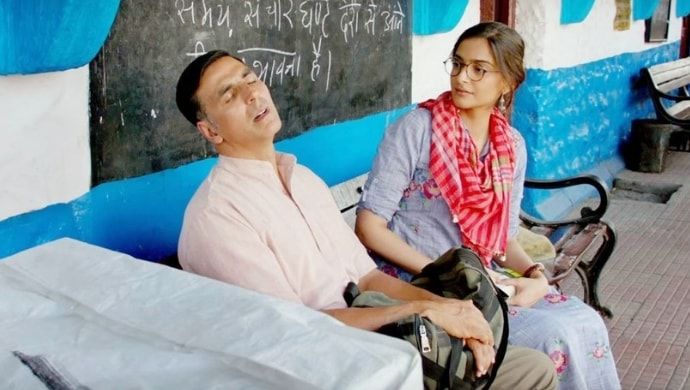 Akshay Kumar and Sonam Kapoor in a scene from Pad Man song