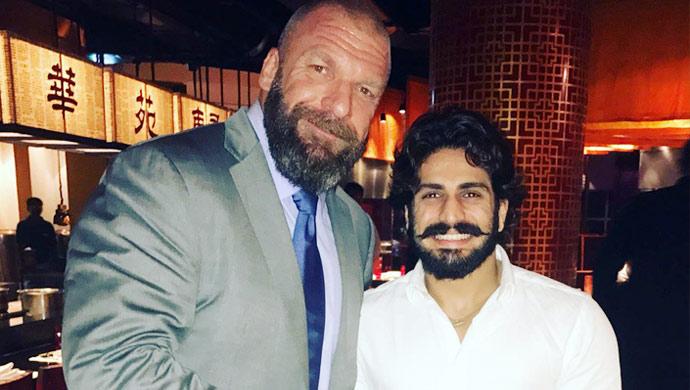Jodha Akbar star Rajat Tokas with WWE icon Triple H
