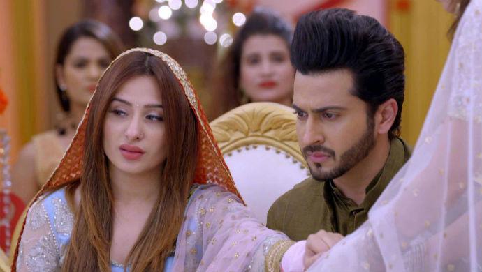 A Scene From Kundali Bhagya Starring Mahira Sharma And Dheeraj Dhoopar As Monisha And Karan