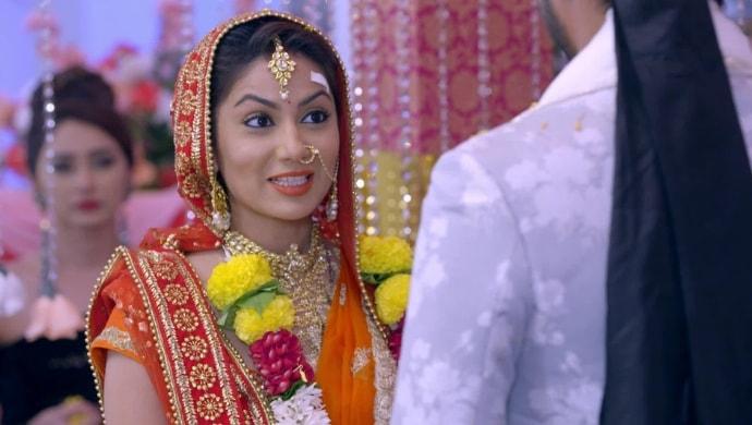 Pragya in the bridal avatar from Kumkum Bhagya