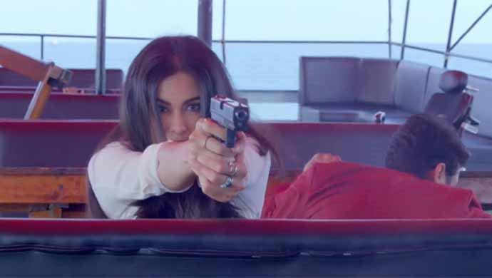 Adah Sharma In An Action Scene From Commando 2