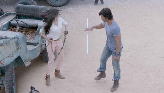 Adah Sharma And Vidyut Jammwal In An Action Scene From Commando 2