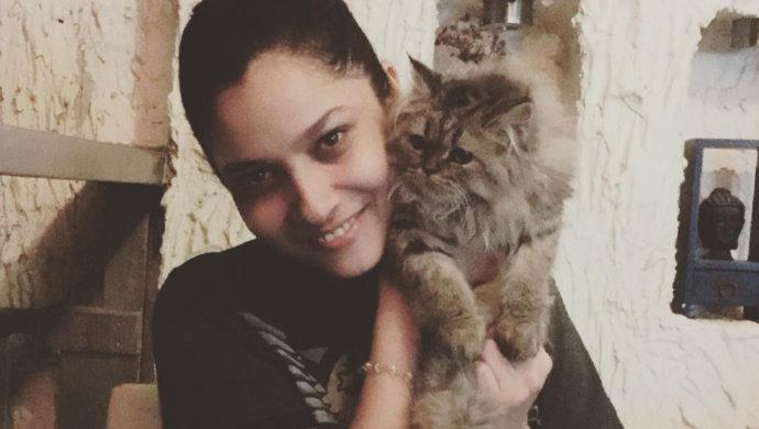 ankita lokhande with her persian cat birju