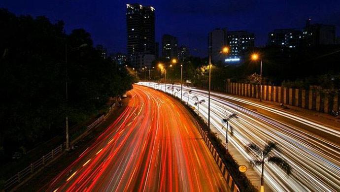 Mumbai City Lights in motion
