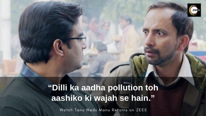 Madhavan and Deepak Dobriyal in a scene from Tanu Weds Manu Returns