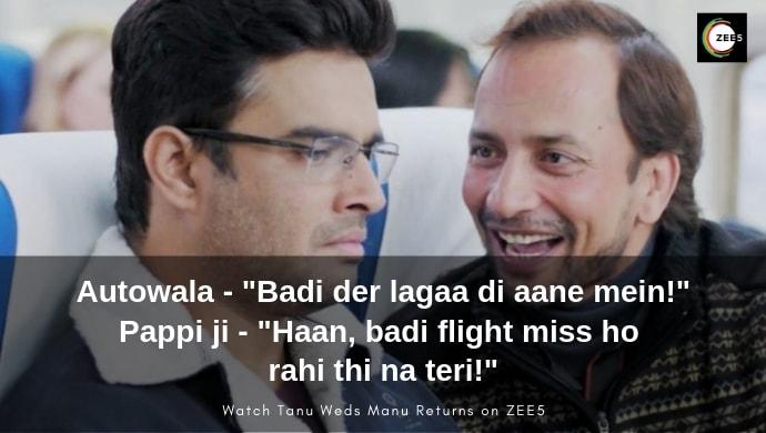 Madhavan, Deepak Dobriyal in a funny flight scene from TWMR