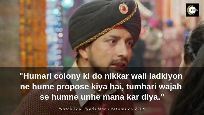Deepak Dobriyal as Pappi in Tanu Weds Manu Returns