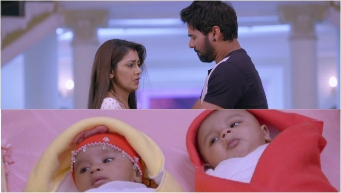 Abhi Pragya and twins separate in Kumkum Bhagya