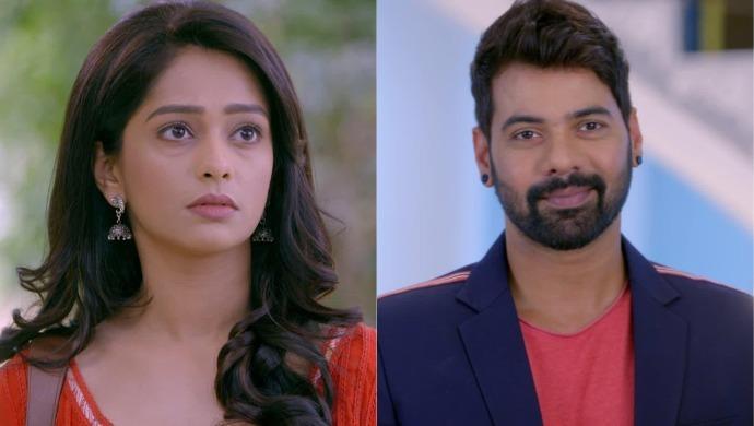 Abhi and Prachi in a scene from Kumkum Bhagya episode