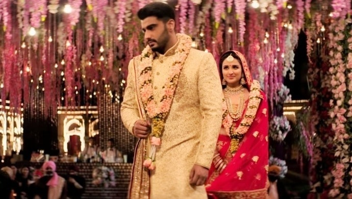 Arjun Kapoor and Parineeti Chopra in a still from Namaste England