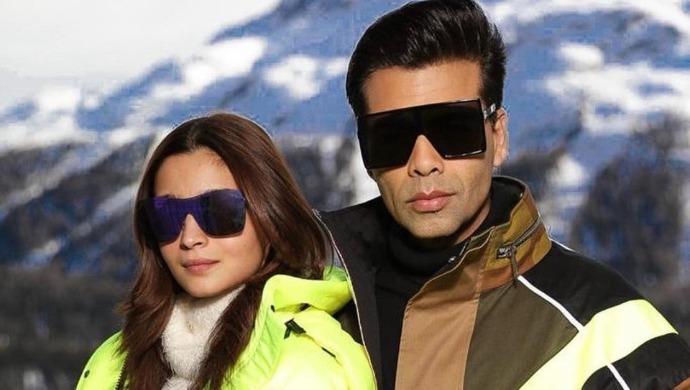 Karan Johar with Alia Bhatt in Switzerland