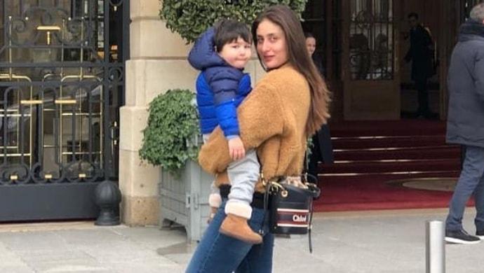 Kareena Kapoor Khan with son Taimur in UK