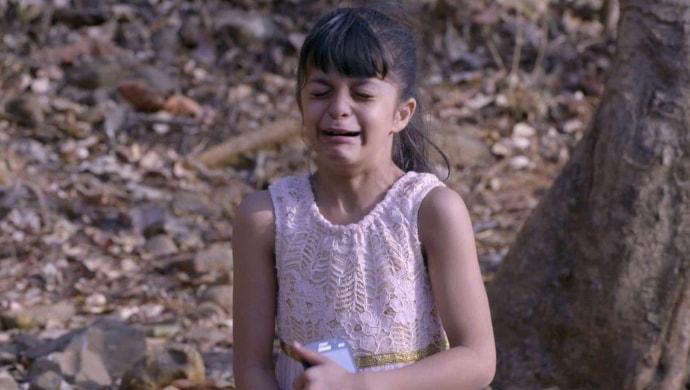 Kiara crying in a scene from Kumkum Bhagya