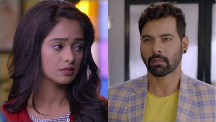 Prachi and Abhi in a scene from Kumkum Bhagya serial