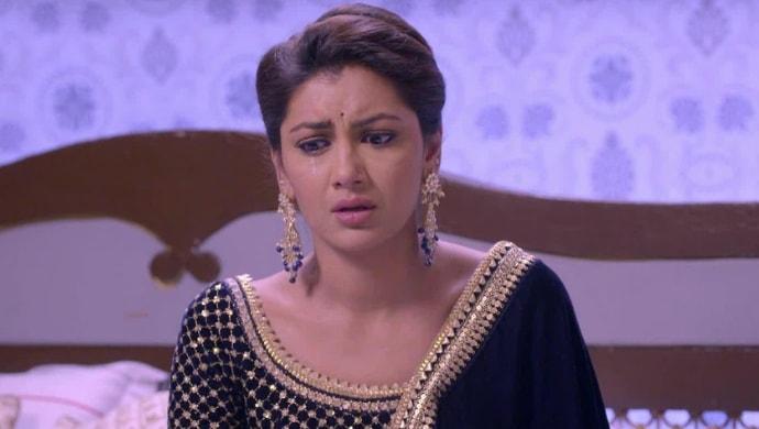Pragya Arora crying in a scene from Kumkum Bhagya