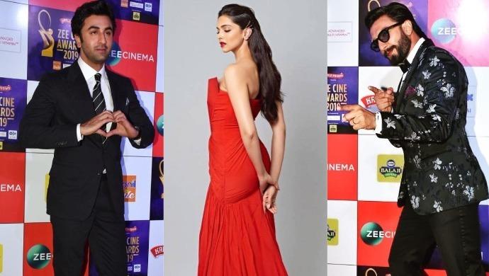 Ranbir Kapoor Deepika Padukone Ranveer Singh at Zee Cine Awards 2019