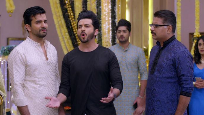 A Still From Kundali Bhagya Starring Manjit Joura And Dheeraj Dhoopar As Rishabh And Karan