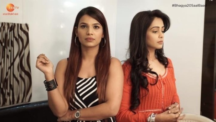 Riya and Prachi on Kumkum Bhagya sets