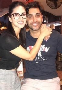 Sunny Leone with her brother Sandeep Vohra