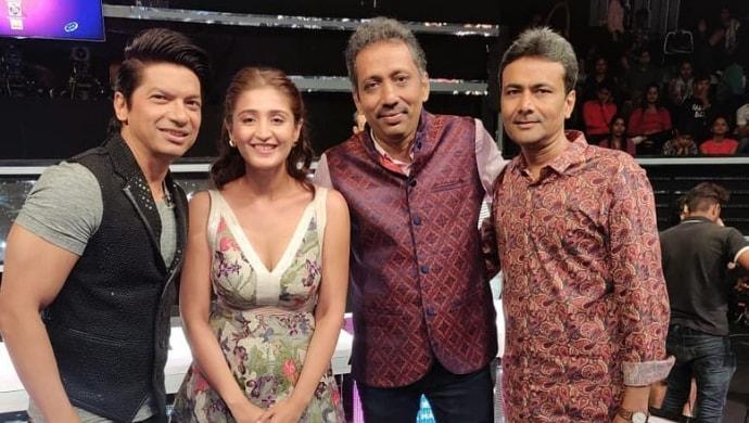 Dhvani Bhanushali with Shaan on Sa Re Ga Ma Pa Lil Champs