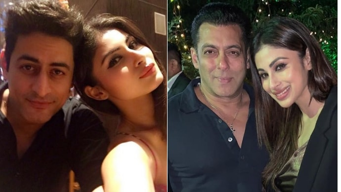 Mouni Roy with Mohit Raina, Mouni Roy with Salman Khan