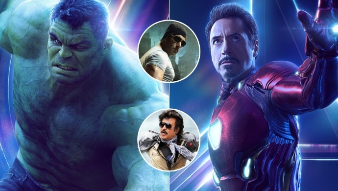 Salman Khan as Hulk, Rajinikanth as Iron Man