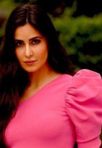 Katrina Kaif in a pink dress