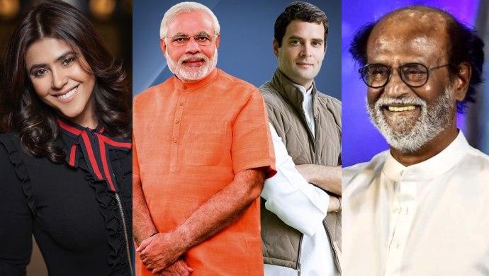 PM Modi, Rahul Gandhi, Rajinikanth, Ekta Kapoor