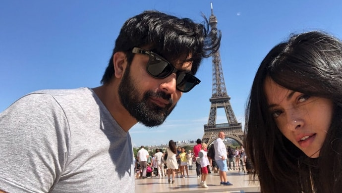 Riya Sen with Shivam Tewari in Paris near Eiffel Tower