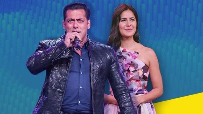 Salman Khan Katrina Kaif on Sa Re Ga Ma Pa Lil Champs