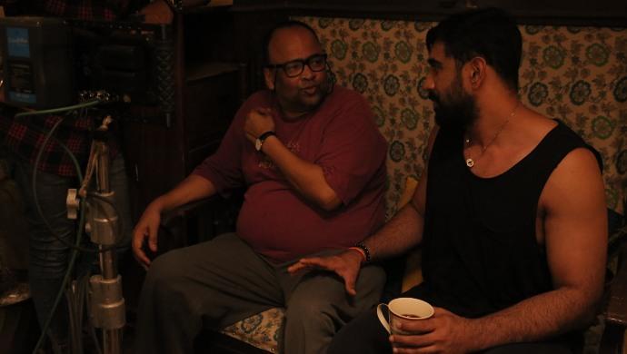 Amit Sadh on the sets of ZEE5 Original film
