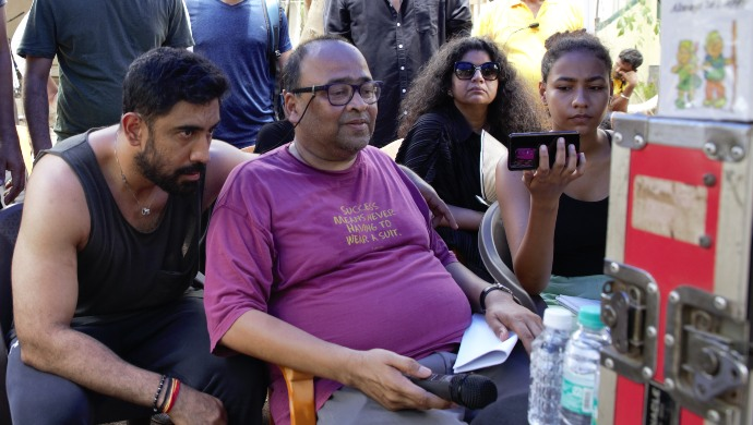 Amit Sadh on the sets of an upcoming ZEE5 Original film
