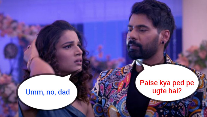 Father's Day image featuring Shabir Ahluwalia and Naina Singh of Kumkum Bhagya