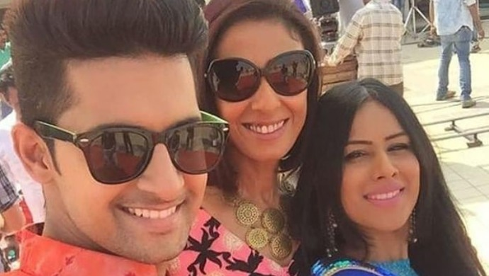 Ravi Dubey, Nia Sharma and Achint Kaur on the sets of Jamai Raja