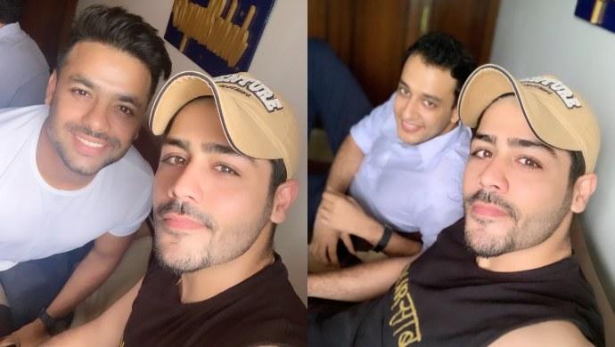 Abhishek Kapur with his friends