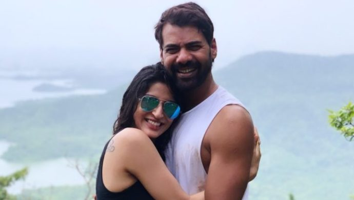 Ashlesha Savant with Kumkum Bhagya actor Shabir Ahluwalia