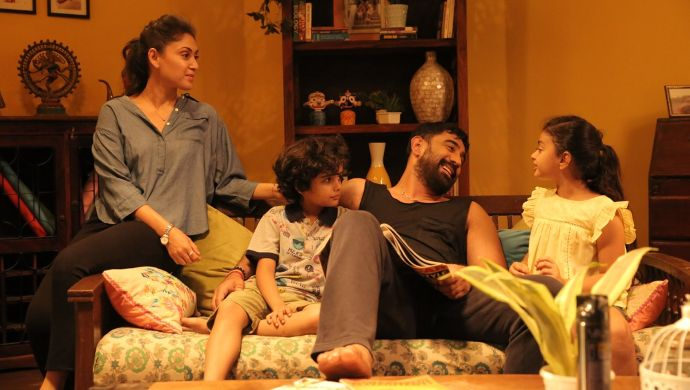 Manjari Fadnnis and Amit Sadh in a still from Barot House