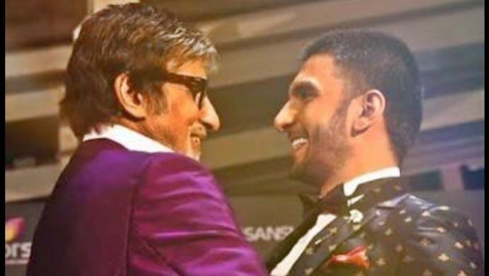 Ranveer Singh with Amitabh Bachchan