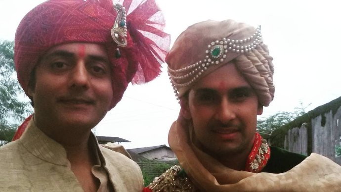 Sanjay Swaraj with Ravi Dubey in Jamai Raja