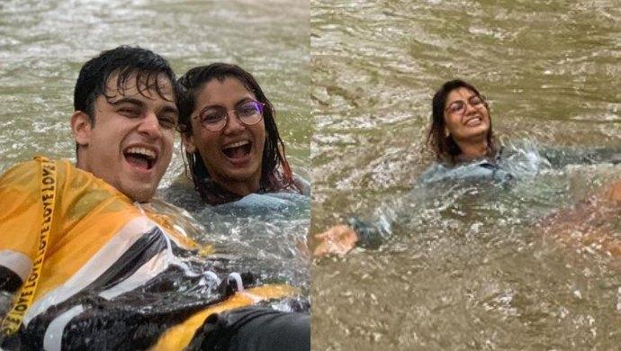 Sriti Jha and Krishna Kaul at a park in Mumbai