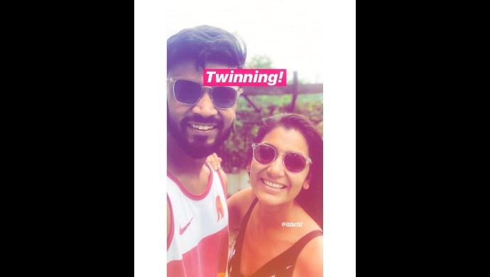 Sriti Jha shares a fun selfie with a friend from Goa