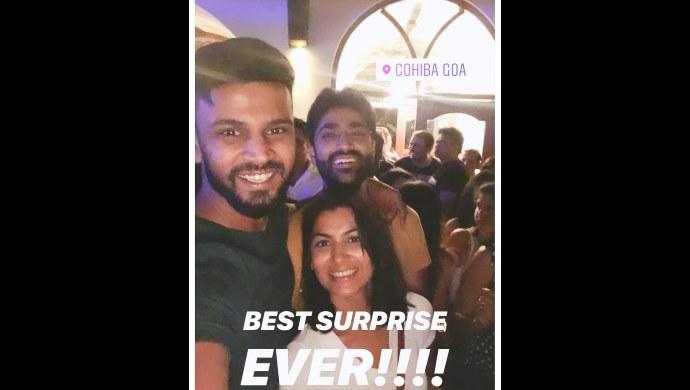 Sriti Jha with her friends in Goa