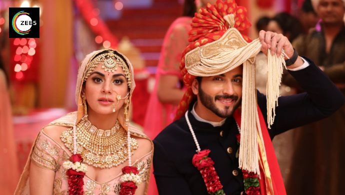 Dheeraj Dhoopar and Shraddha Arya in wedding scene from Kundali Bhagya