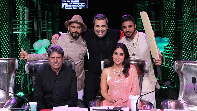 Kapil Dev, Kareena Kapoor Khan on Dance India Dance 7
